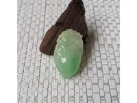 糯种浅绿色翡翠 福寿桃